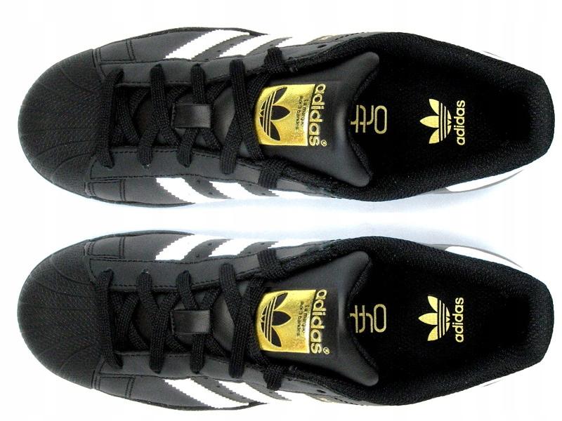 najnowsza zniżka dobrze znany najnowsza kolekcja Adidas SUPERSTAR czarno-białe ZŁOTE LOGO # 36 HIT ...