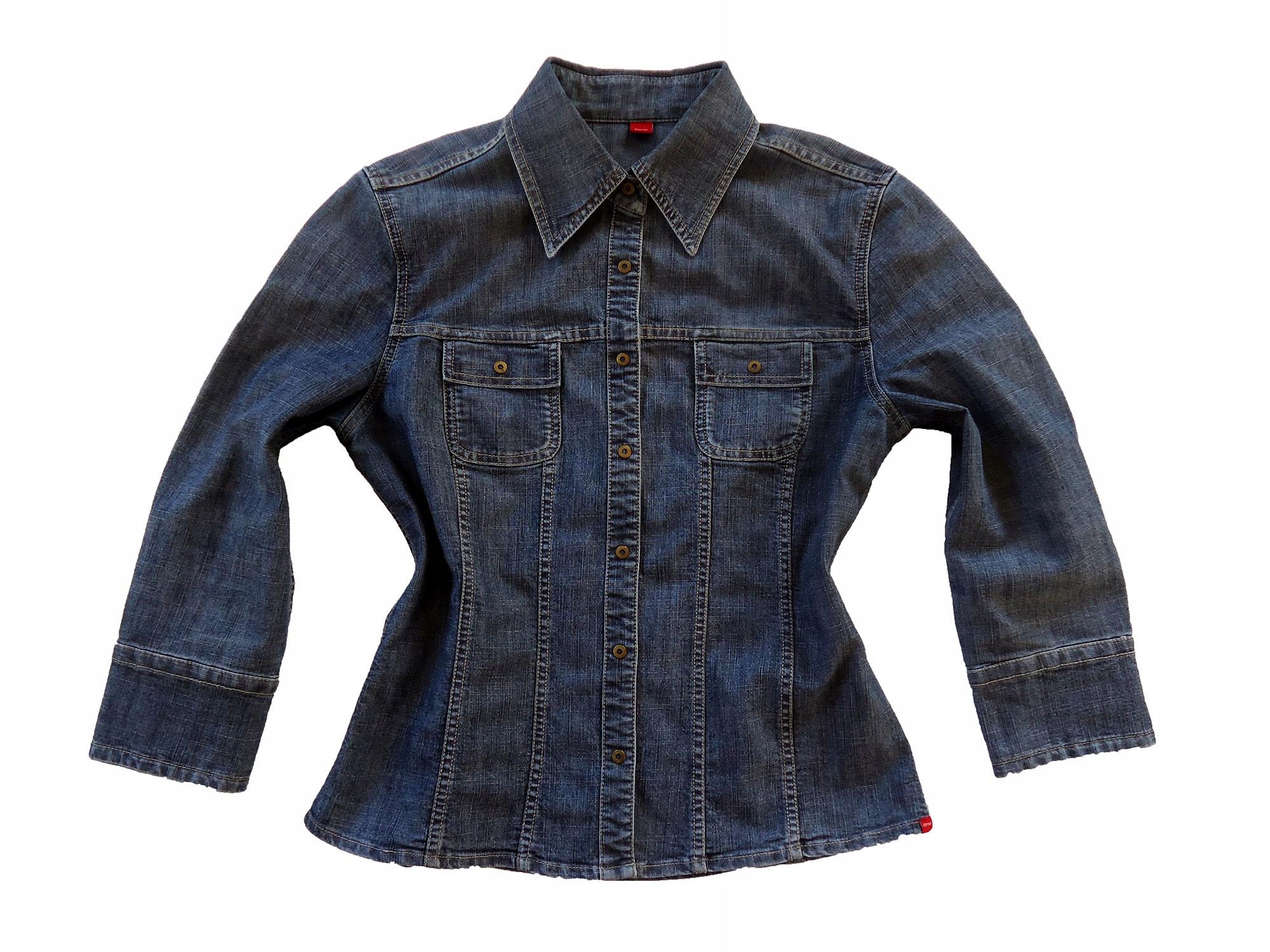 ESPIRIT świetna jeansowa kurtka koszula 40 BDB