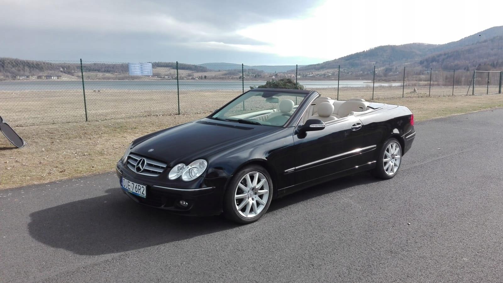 Mercedes CLK200 cabrio, elegance, automat, łopatki