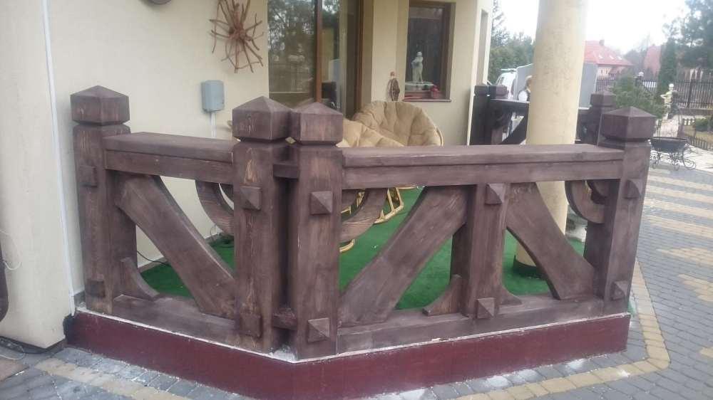 Barierki Drewniane Balustrady Balkonowe Tarasowe