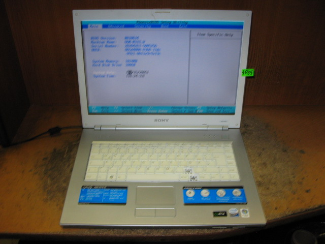 LAPTOP SONY VAIO VGN-N31S - NR S595