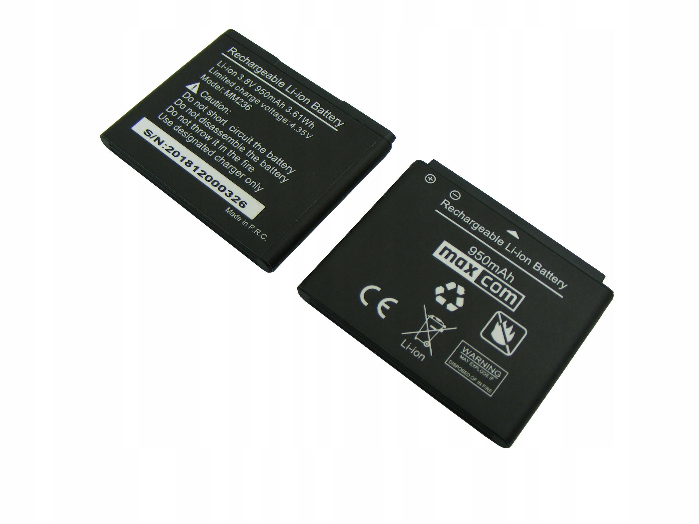 Bateria MAXCOM MM236 950mAh