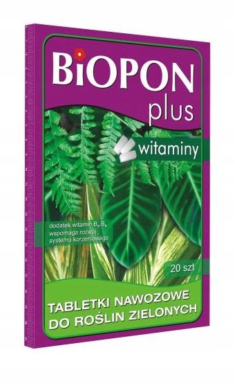 BIOPON PLUS tabletki nawozowe do roślin zielonych