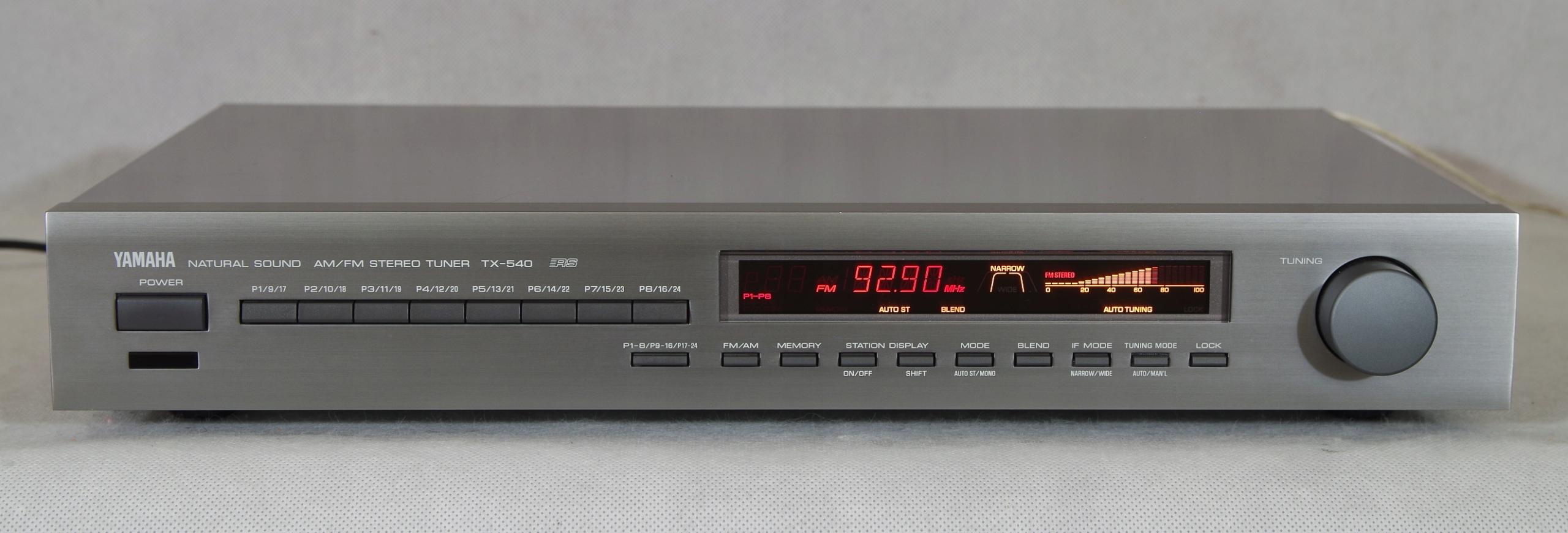 Yamaha TX-540, sprawny, czuły tuner cyfrowy.