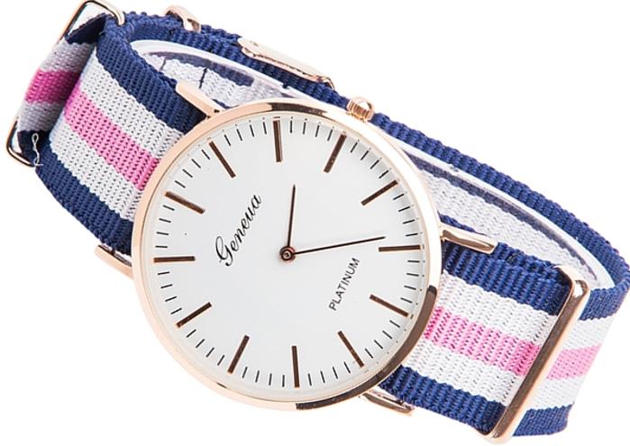 Zegarek Damski nylonowy pasek Geneva ZK99 Nr3