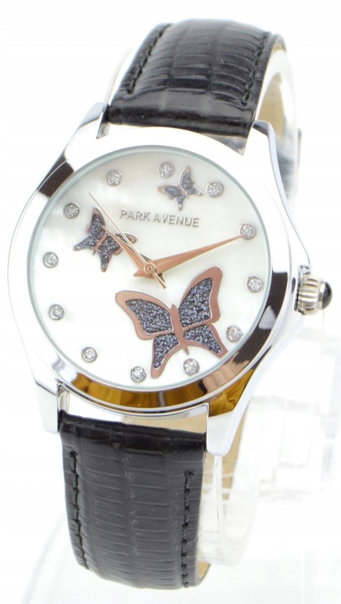 Zegarek damski PARK AVENUE z motylkami na pasku sk