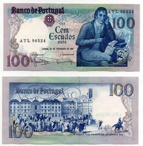 PORTUGALIA 1981 100 ESCUDOS
