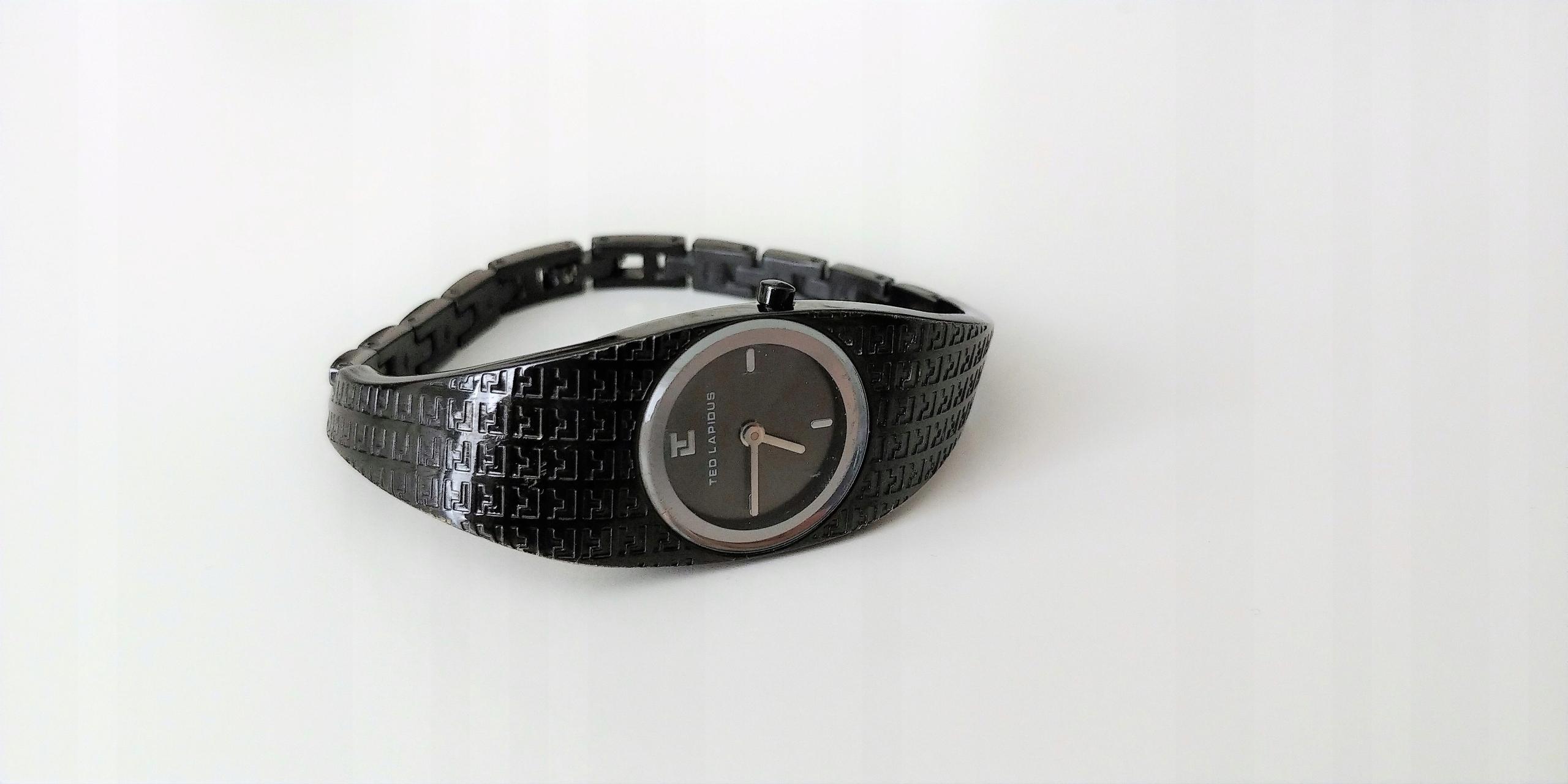 ce975ffd218d31 TED LAPIDUS Oryginalny zegarek damski Czarny metal - 7560832149 ...