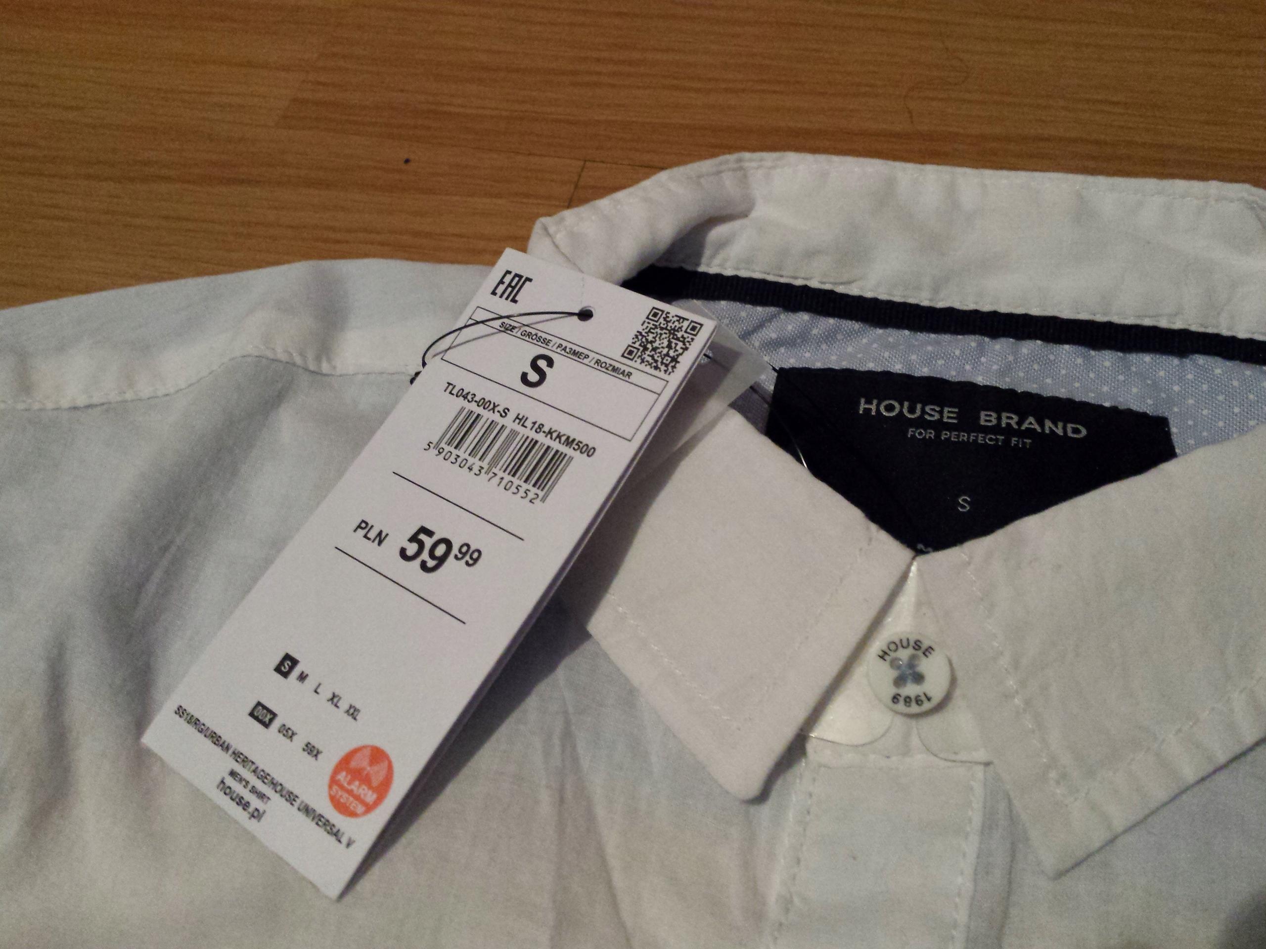 Bawełniana koszula HOUSE rozmiar S, biała