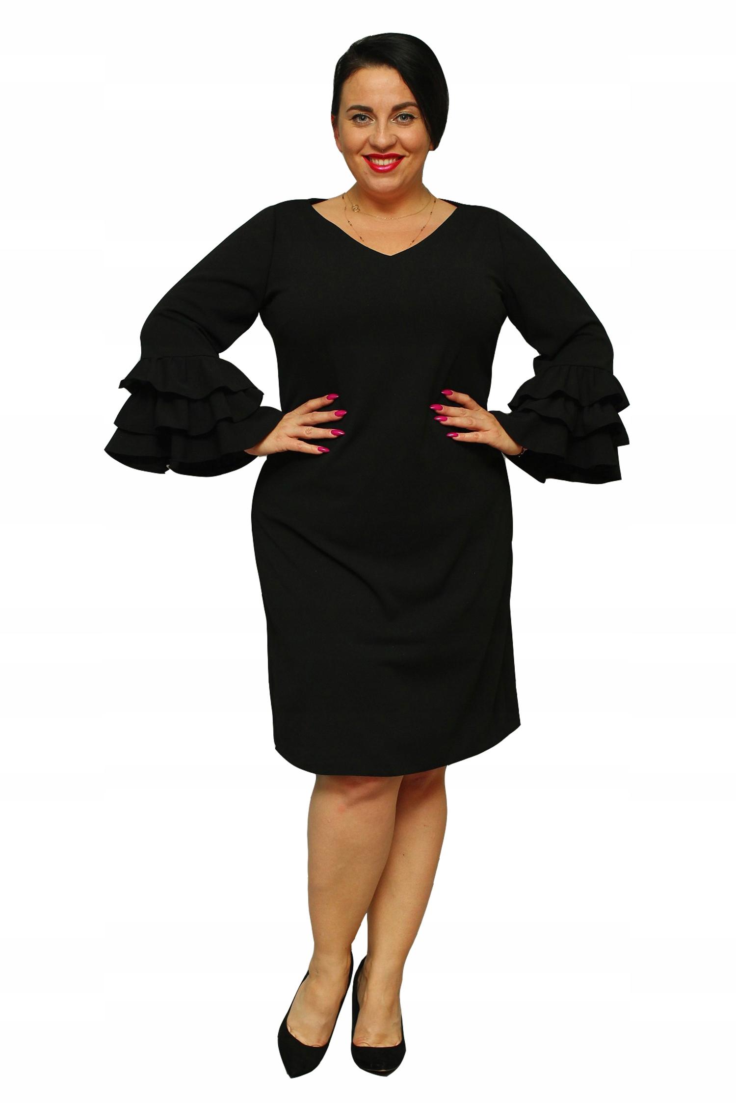 Sukienka KLAUDIA elegancka flamenco czarna 46 8114998965
