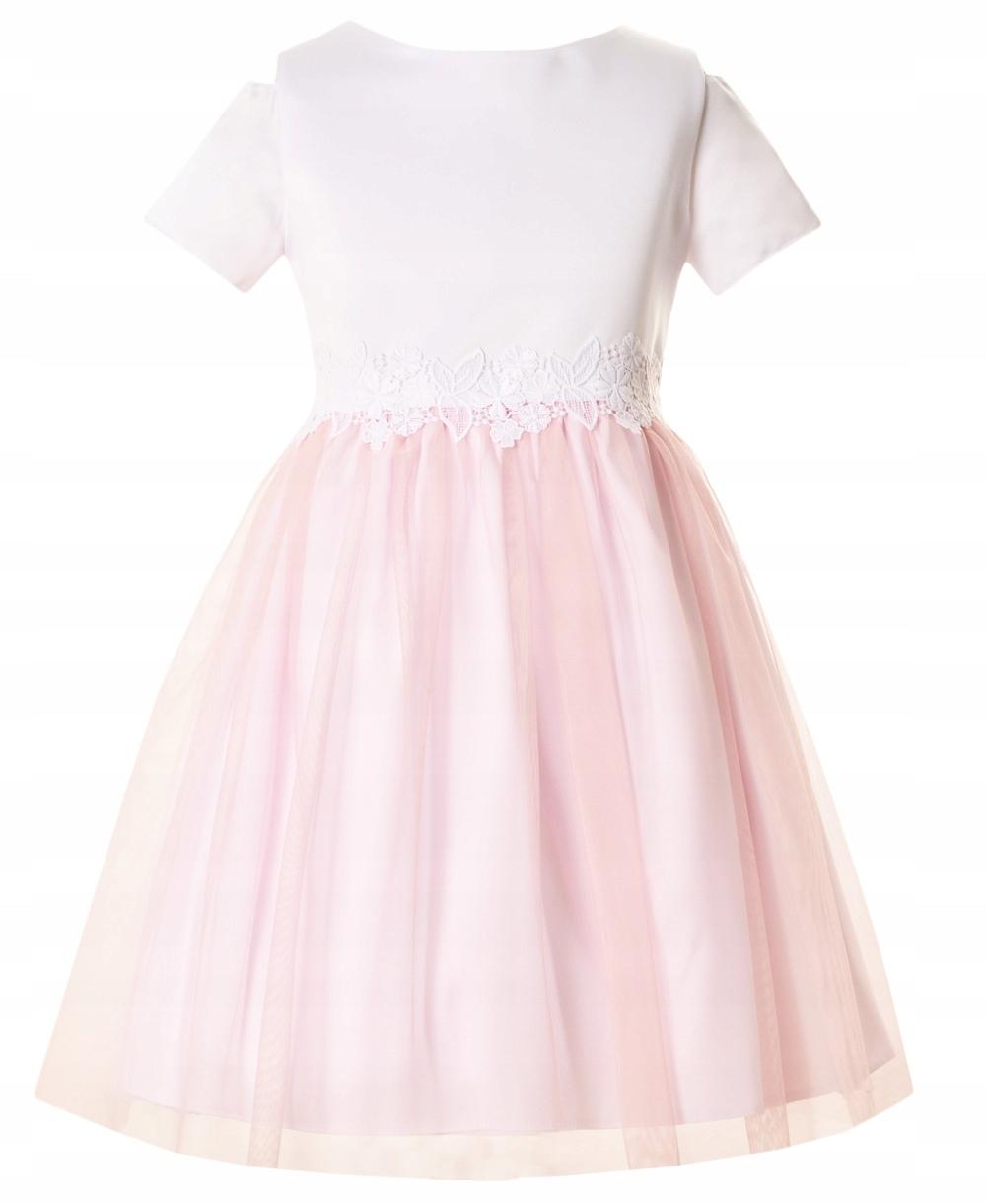 670552cf Sukienka dla dziewczynki Wesele Komunia Nowość 146 - 7816278997 ...