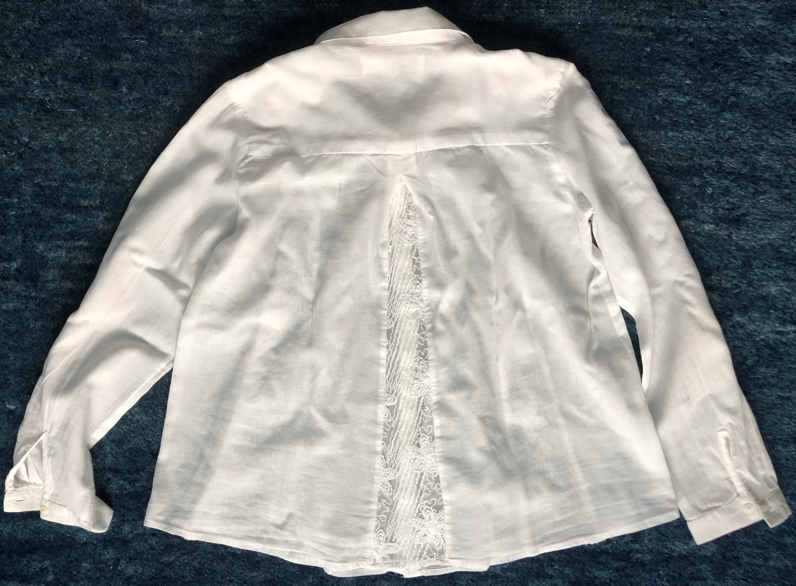 Biała bluzka f-my Zara Girls rozm.128 (7-8 l.)