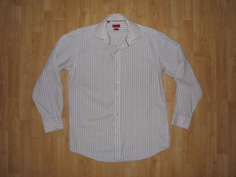 PIERRE CARDIN Koszula z logo w paski L BDB