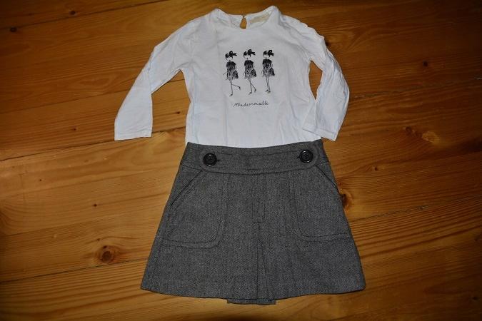 ZARA spódnica i bluzka 7 lat