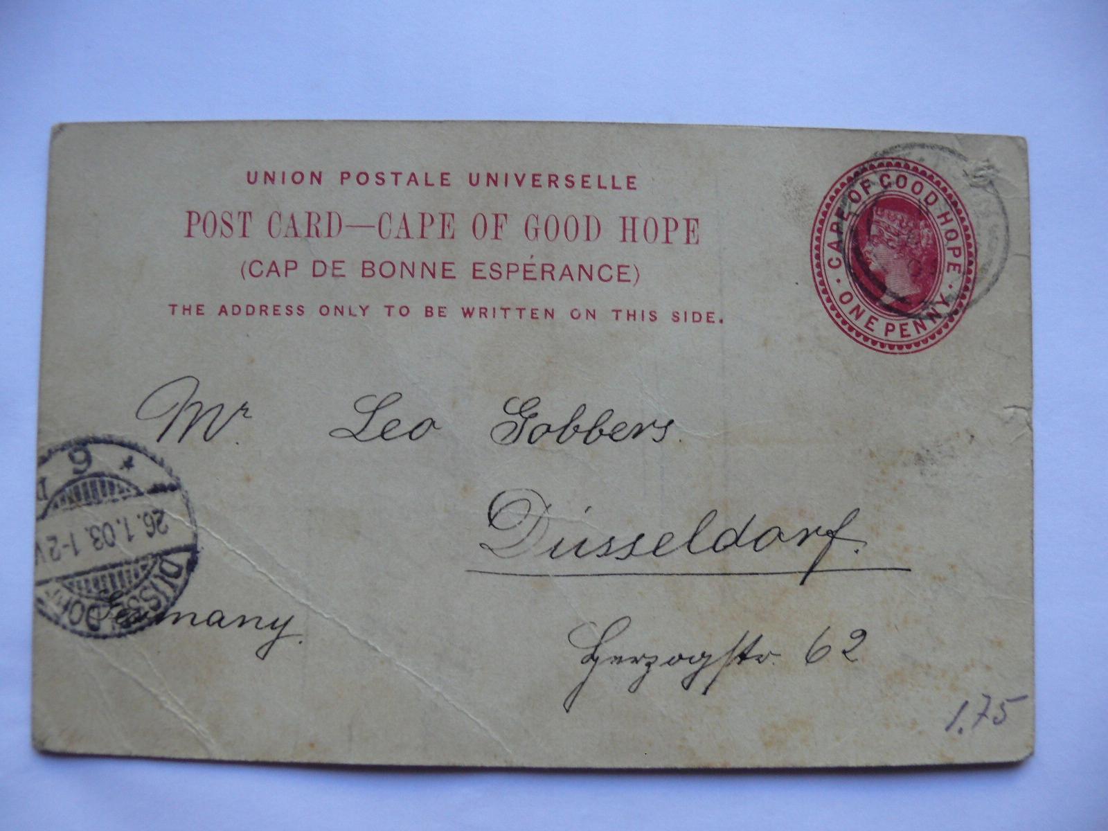Przylądek Dobrej Nadzei 1903 post card