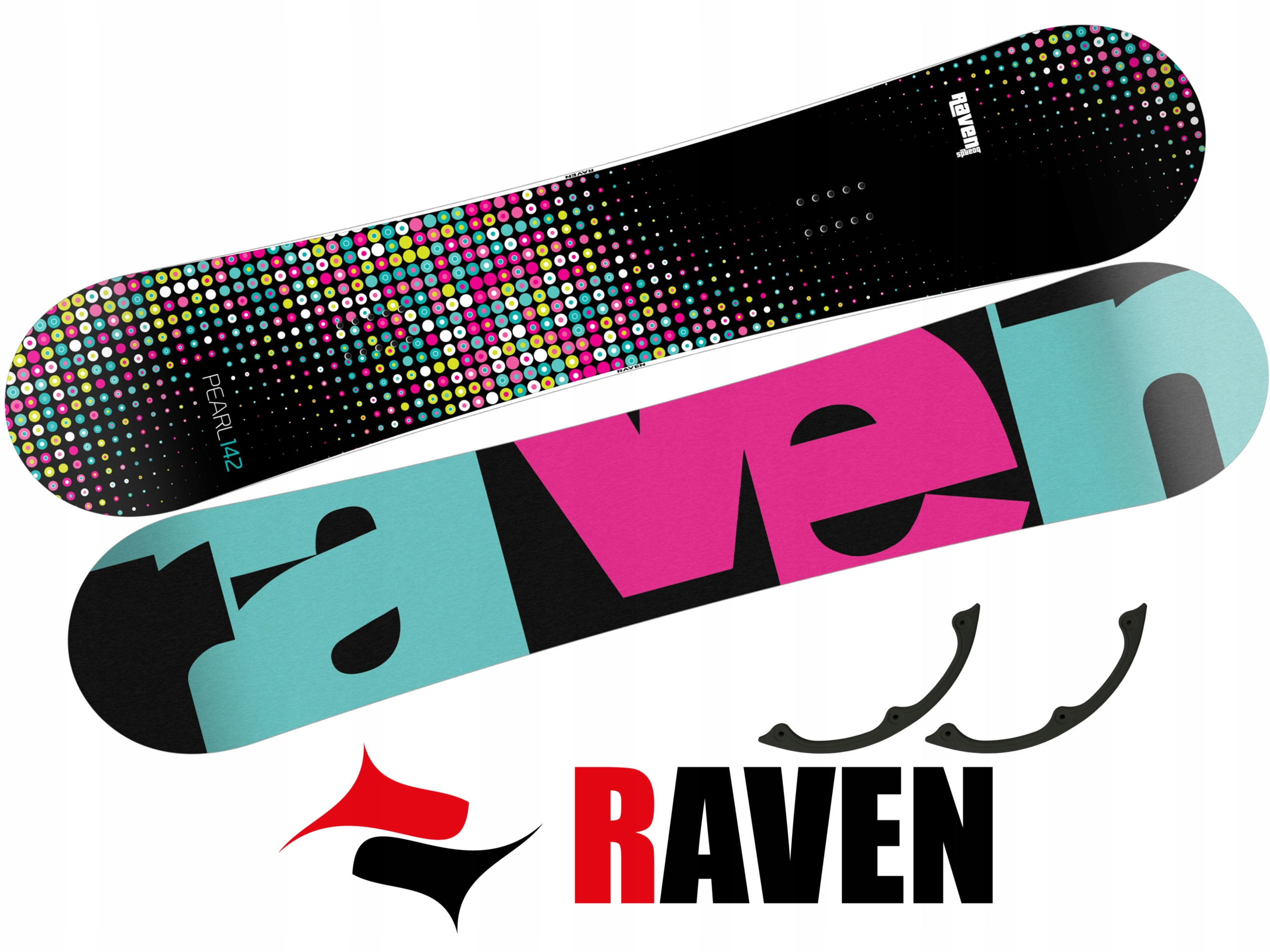Snowboard Raven Pearl Mint 145cm 2019 + GRATIS