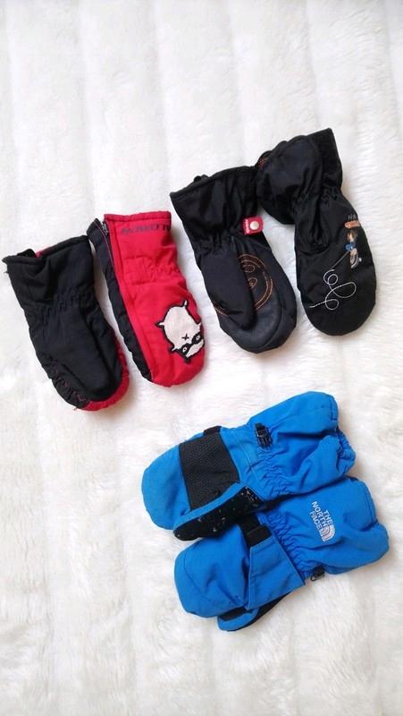 3 pary rękawiczki narciarskie 98 104