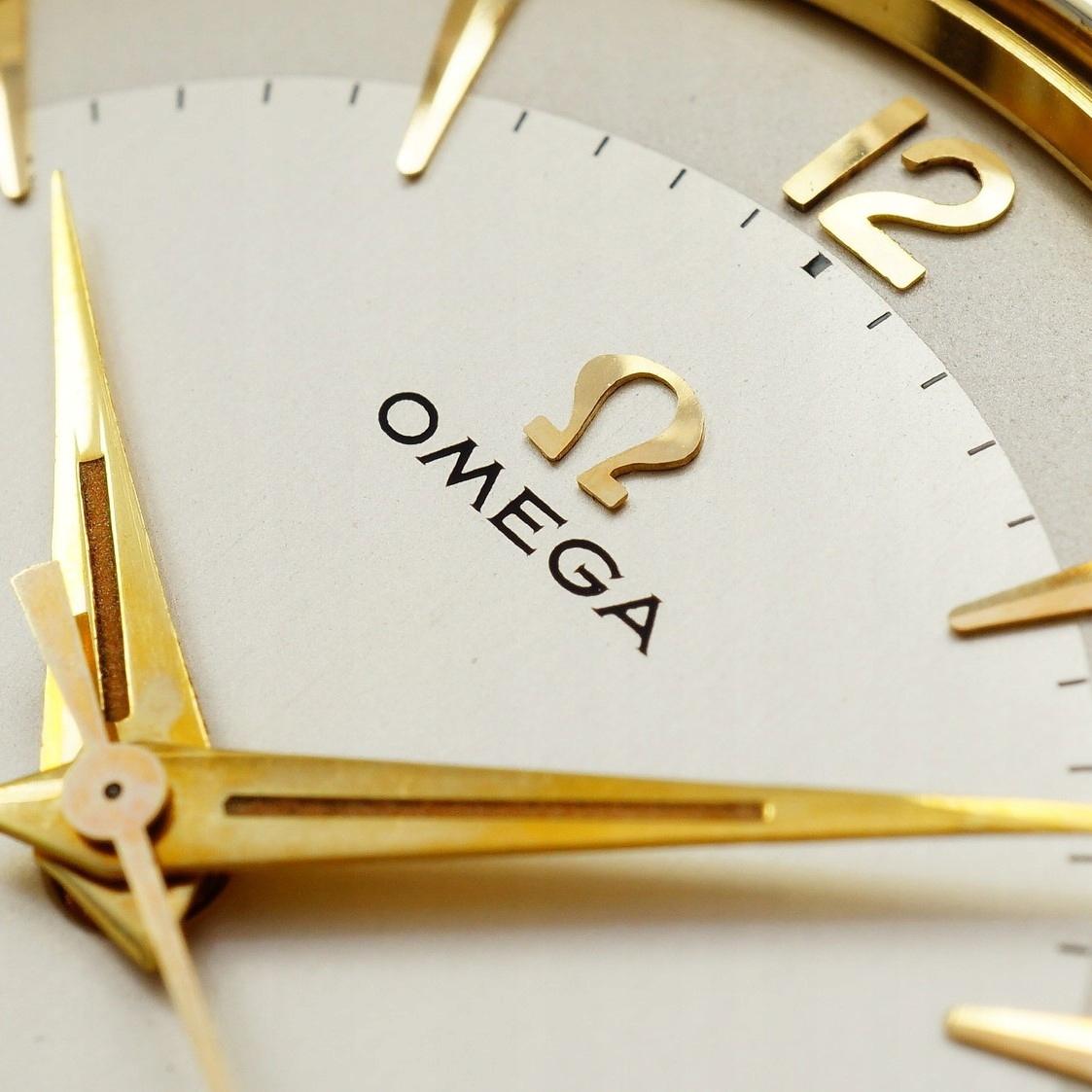 OMEGA nienoszony zegarek duży XL 1956 rok komplet