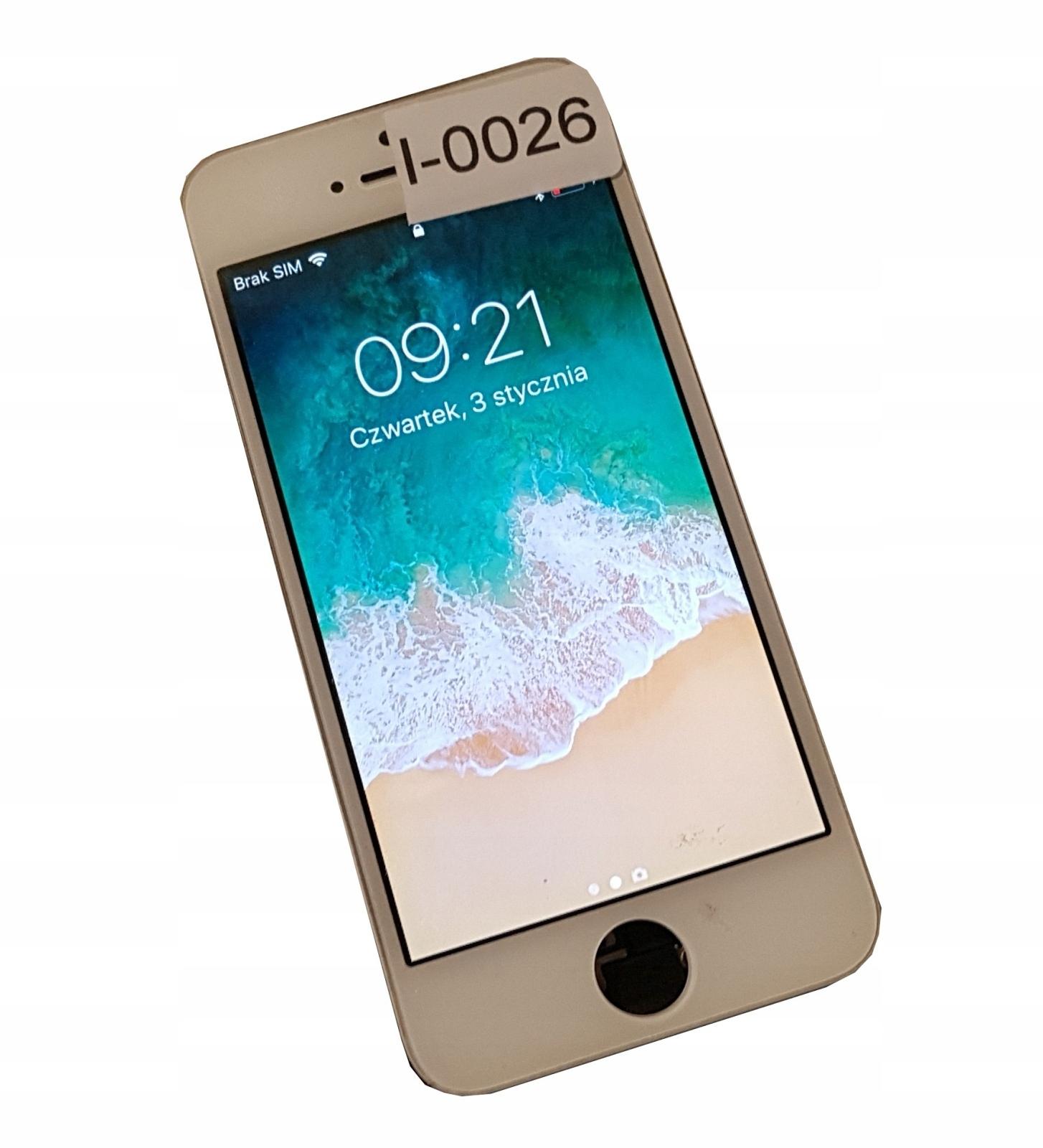 Wyświetlacz LCD iPhone z demontażu 5S BIAŁY I0026
