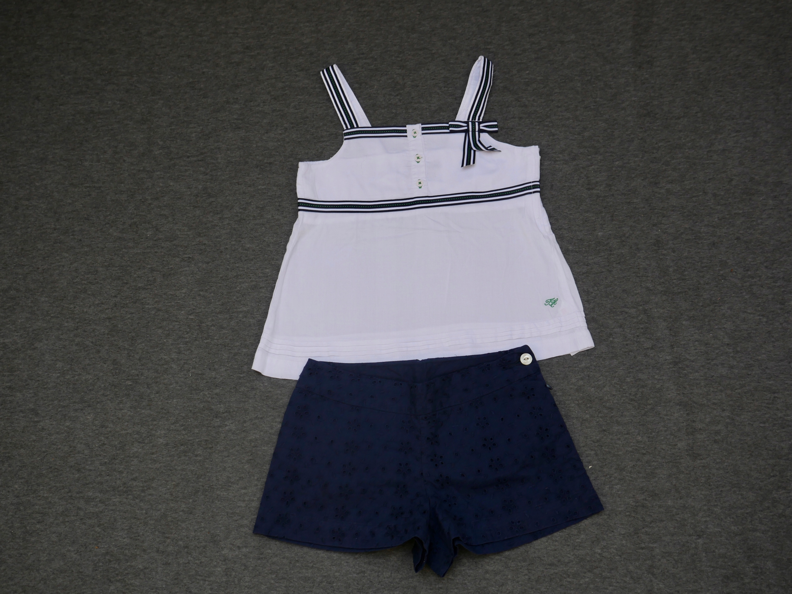 HILFIGER I LAUREN top i szorty 7 - 8 T na 128 cm