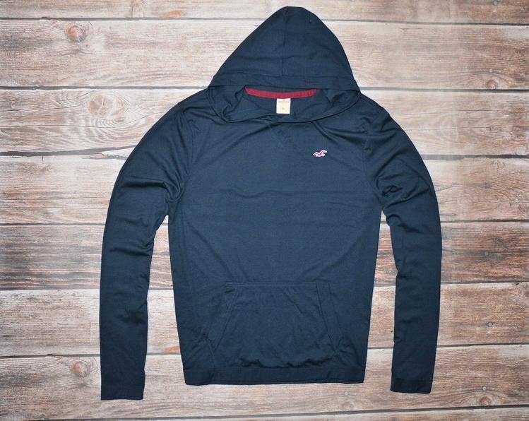 HOLLISTER _ navy hoodie _ XL - NOWA