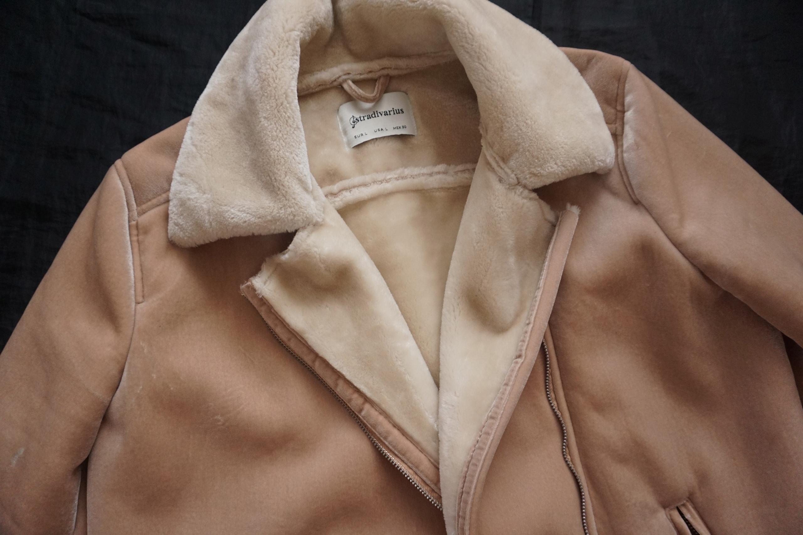 STRADIVARIUS-kurtka kożuszek damski rozm L