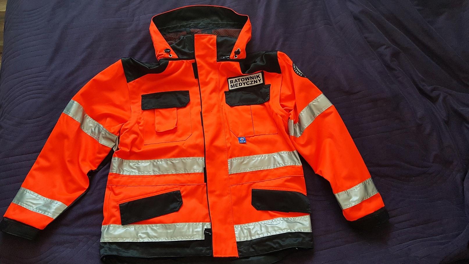 Kpl ratownik medyczny, kurtka, polar, spodnie.