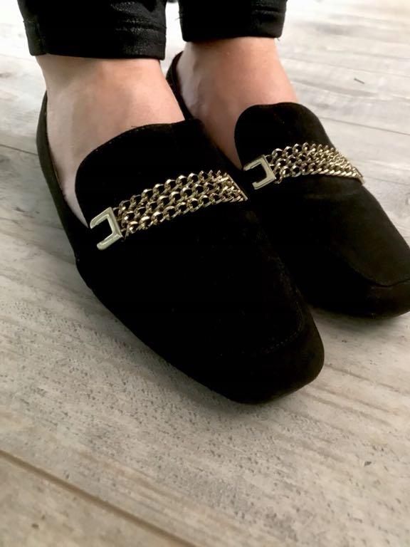 Buty wsuwane Next łańcuszek złoty 37 ideał