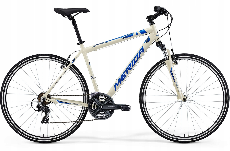 Rower crossowy Merida Crossway 10-V biało-niebiesk