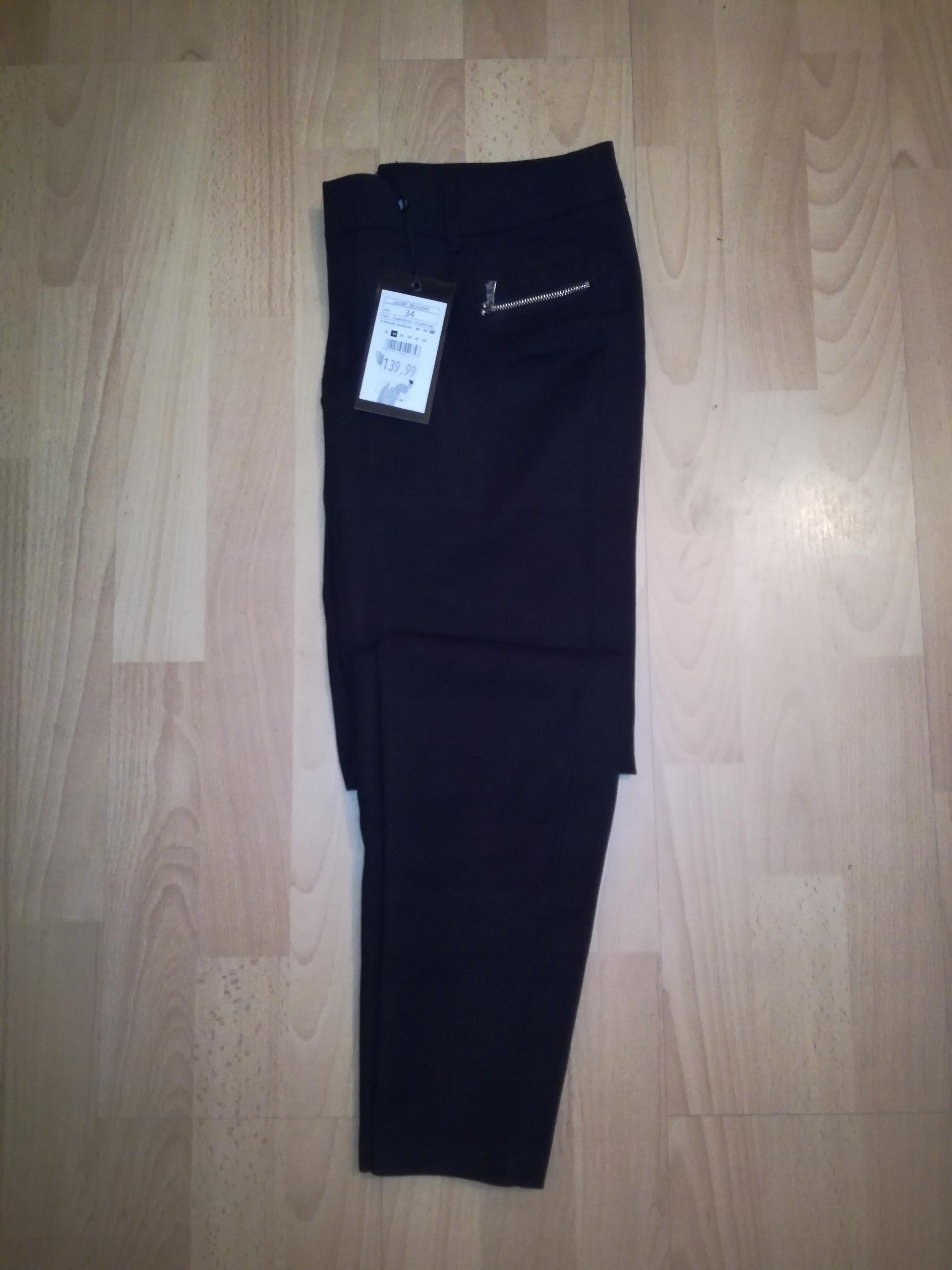 Spodnie rurki eleganckie zip MOHITO 34 XS