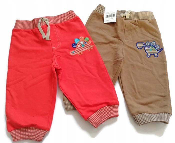 TU nowe spodnie dresowe 2-pac 74/80cm