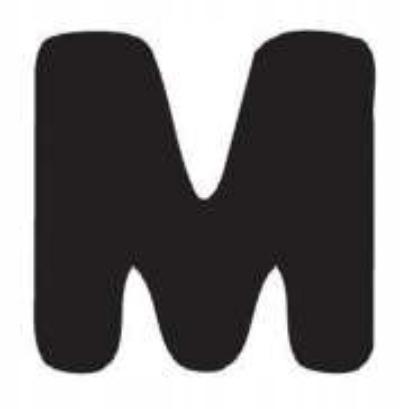 Znaczki ABC do fotelika Yepp Literka M
