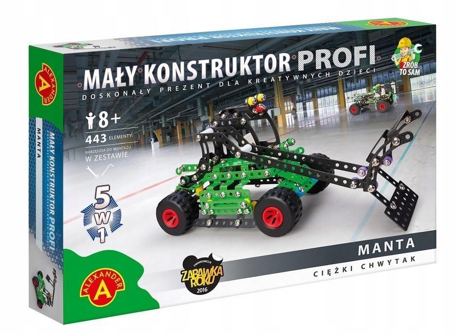 Mały Konstruktor 5w1 Manta Alex Alexander 7695211738