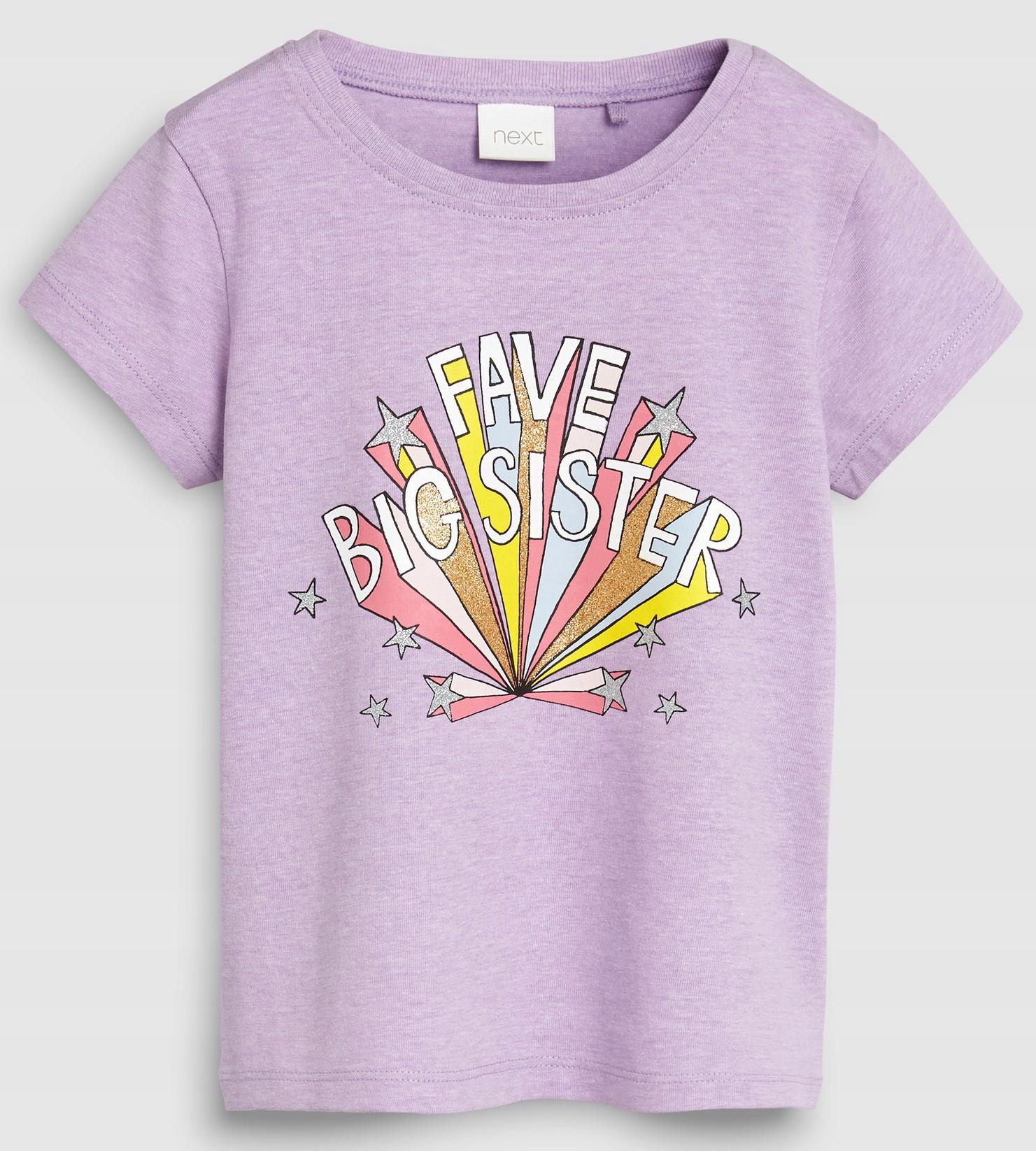 NEXT Purple Big Sister T-Shirt 6-7 L 2019