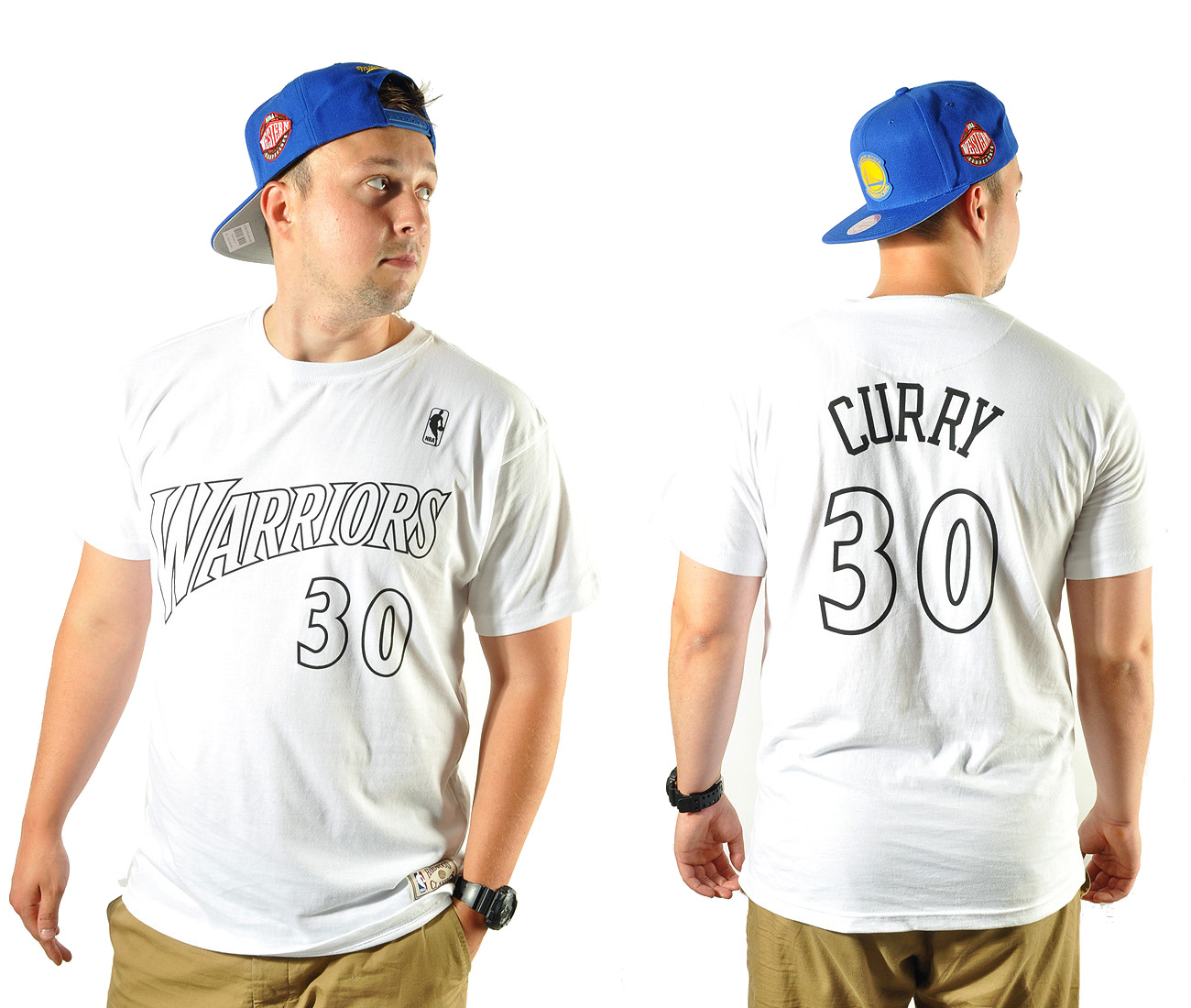 9e9d07078 Koszulka L Mitchell Ness WB Player Curry Warriors - 7403397738 ...