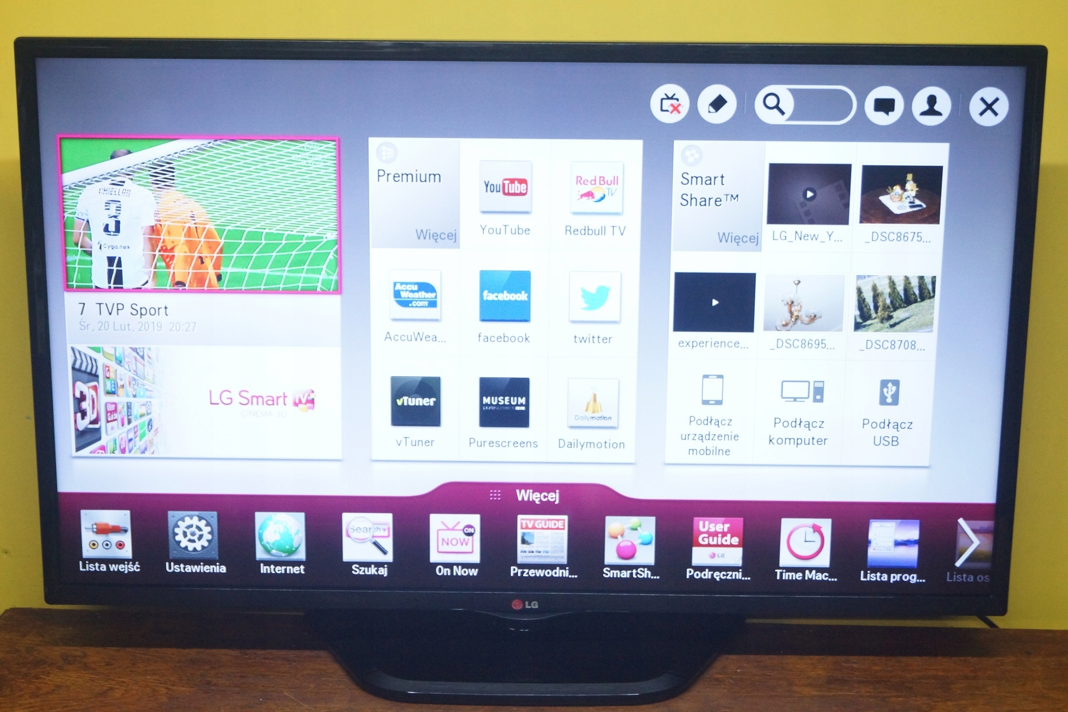 Nieuw LG 42LN5708 SMART TV DVB-T 42 CALE SUPER OKAZJA - 7861087291 NR-17