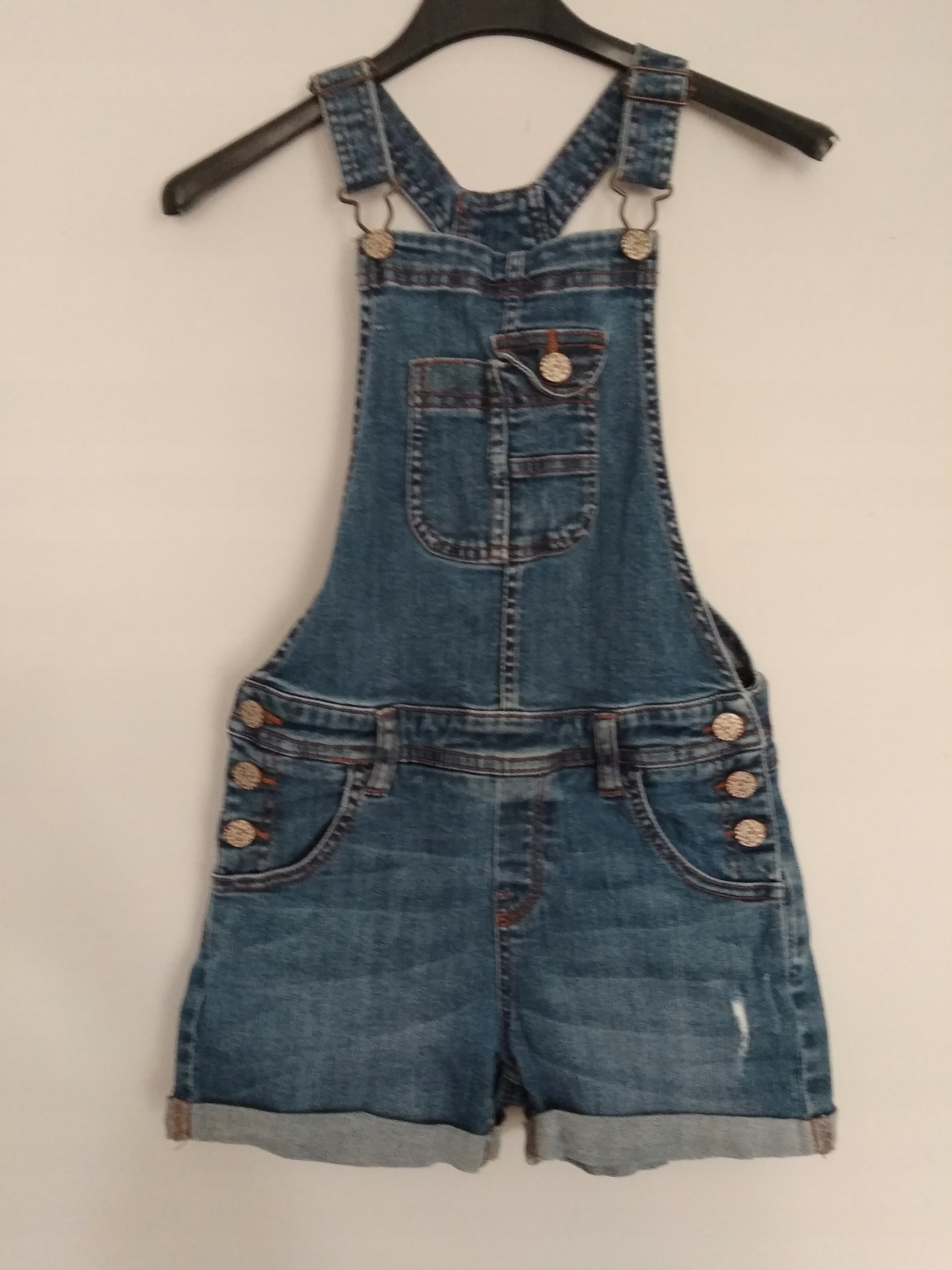 M&S Spodenki ogrodniczki jeansowe roz 134