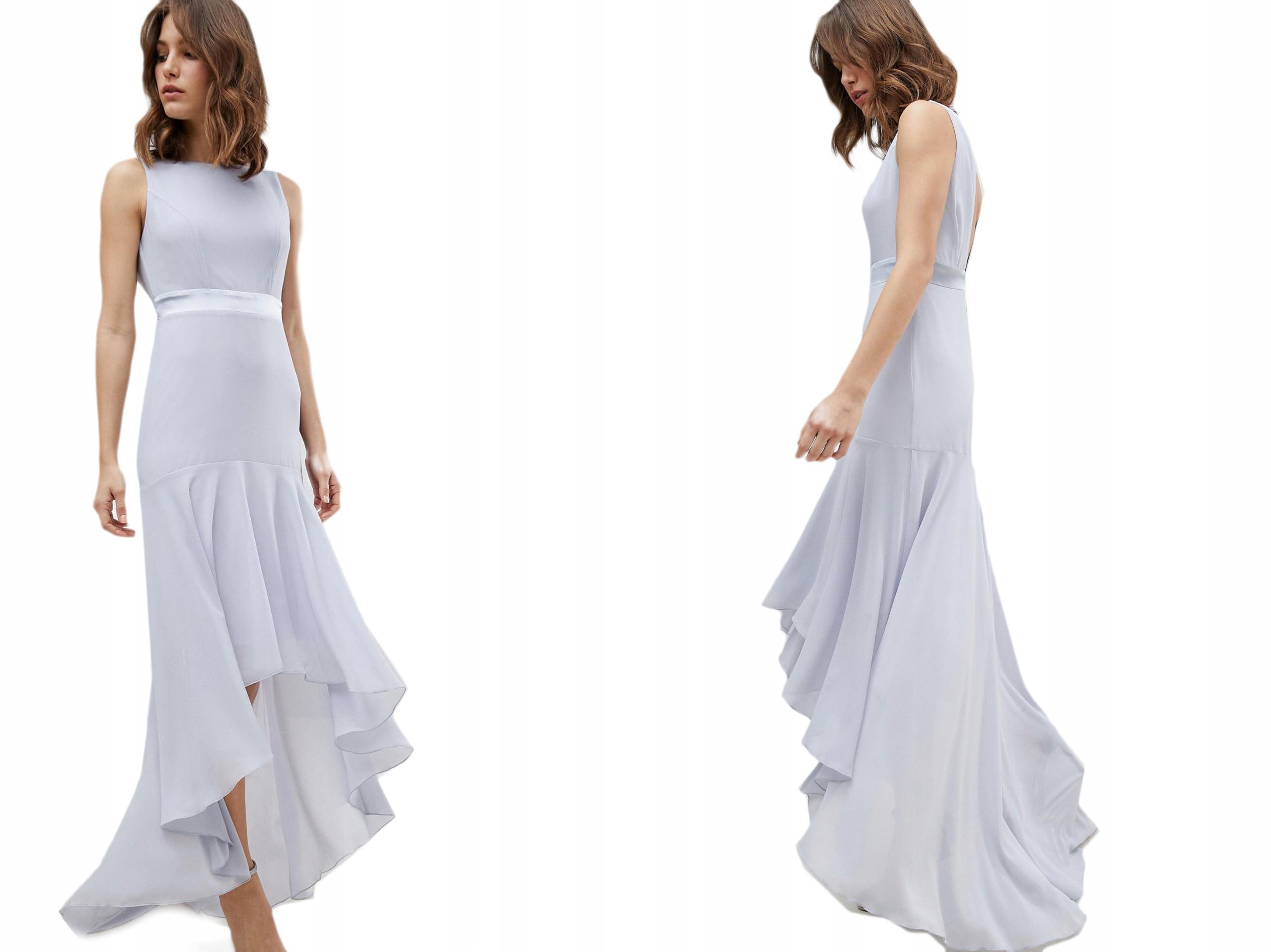 Błękitna sukienka asymetryczna M/38