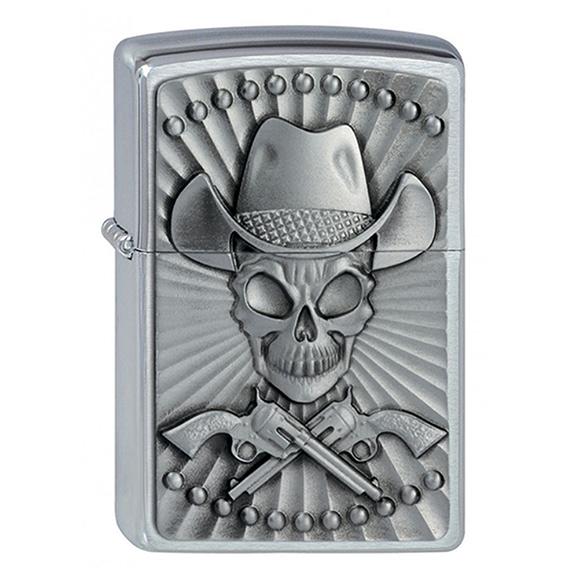ZIPPO Skull Cowboy + benzyna + Twój grawer
