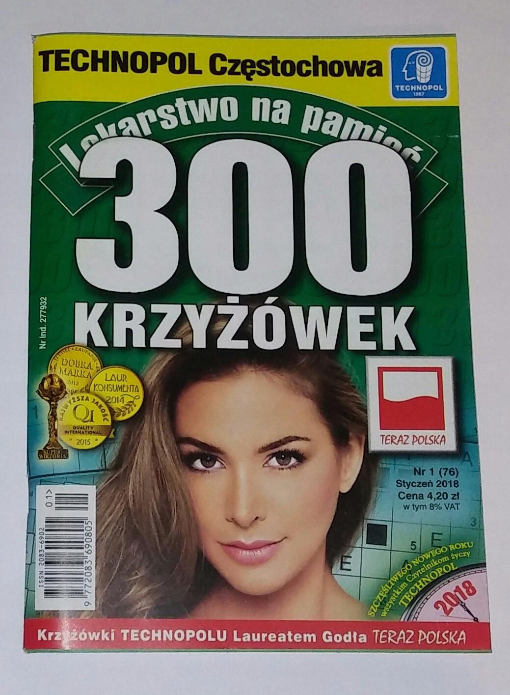300 Krzyżówek Lekarstwo Na Pamięć Technopol 12018