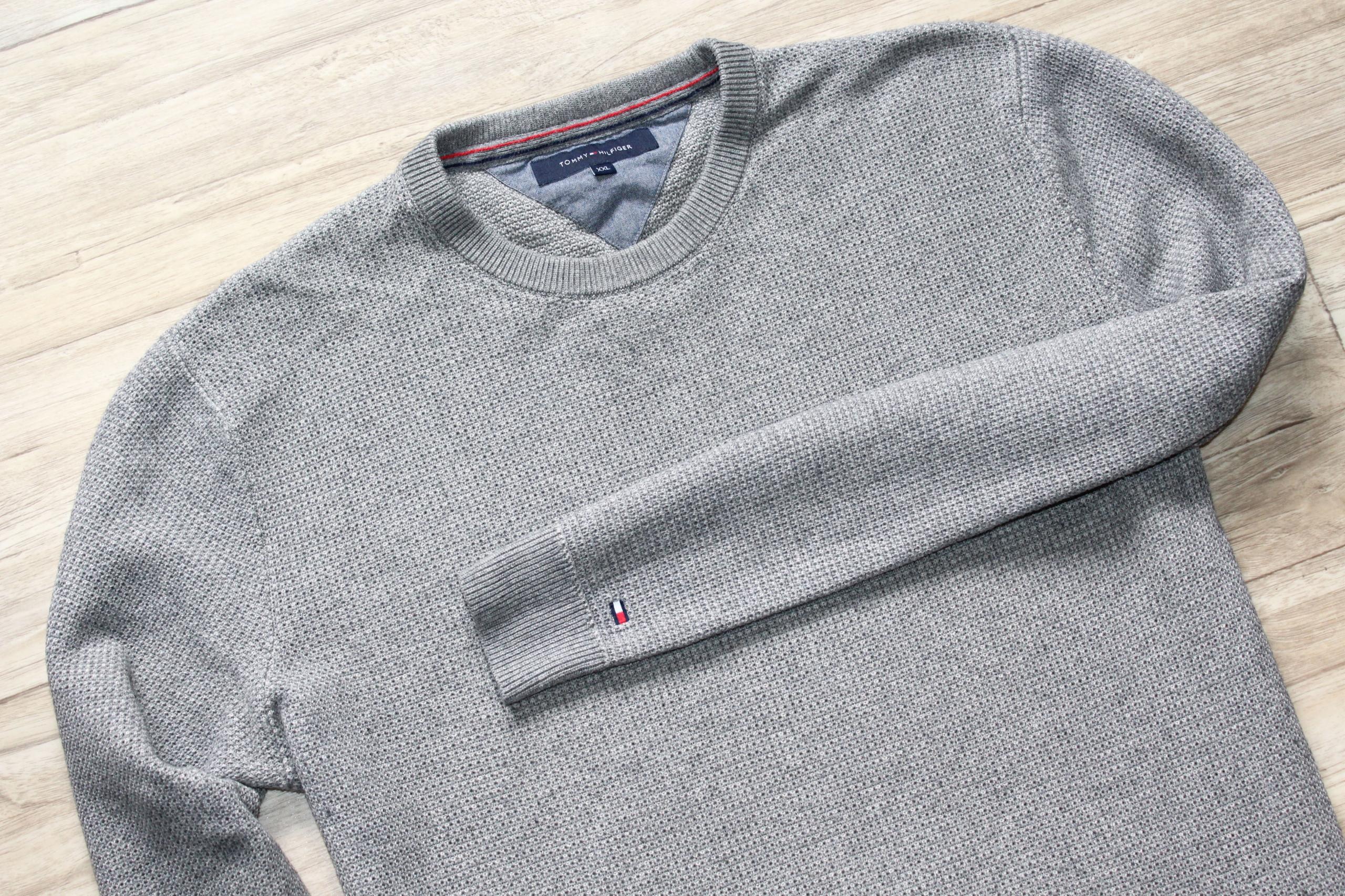 Sweter Tommy Hilfiger XXL 44 bdb z wełną logowany