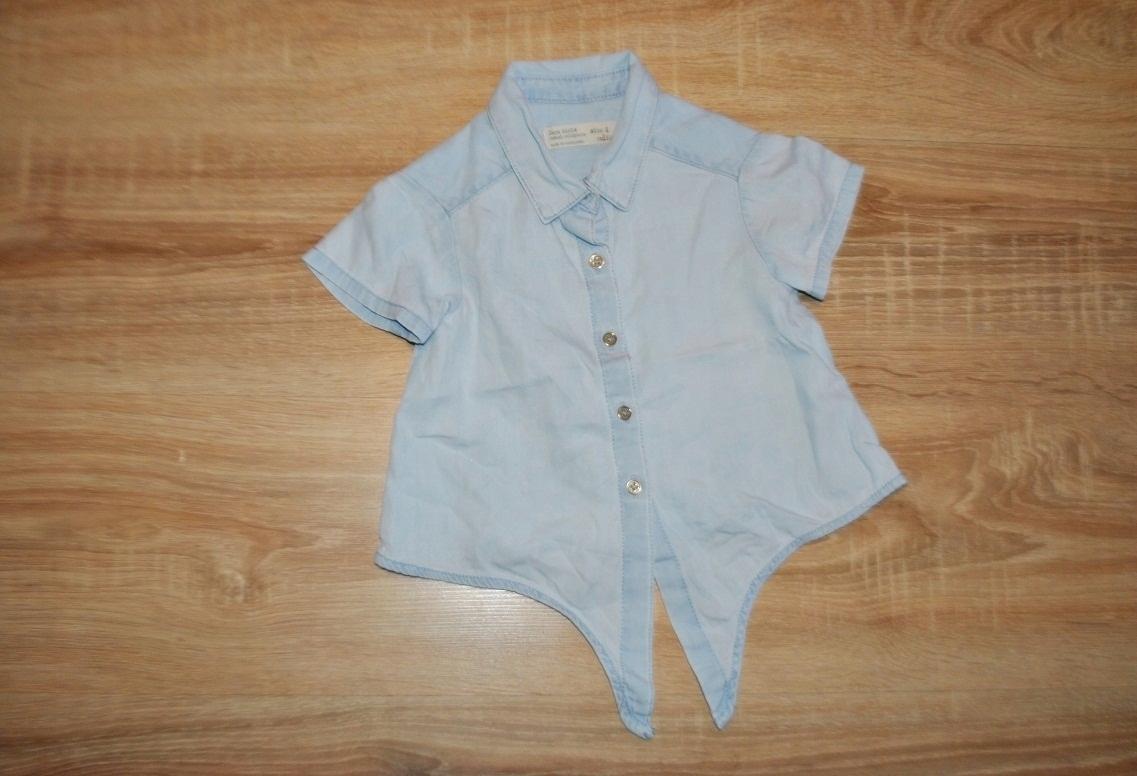 ZARA GIRLS miękka koszula bluzka JEANS 104 BDB