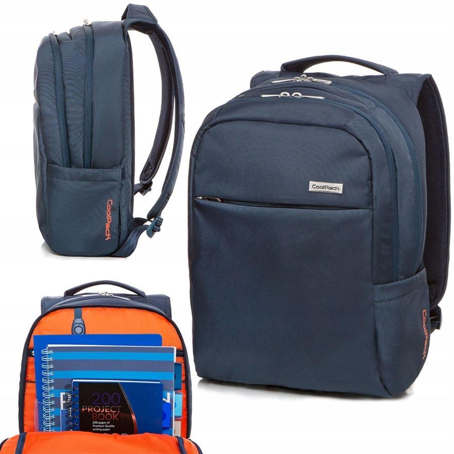 Plecak miejski stylowy mieści laptop tablet BLUE