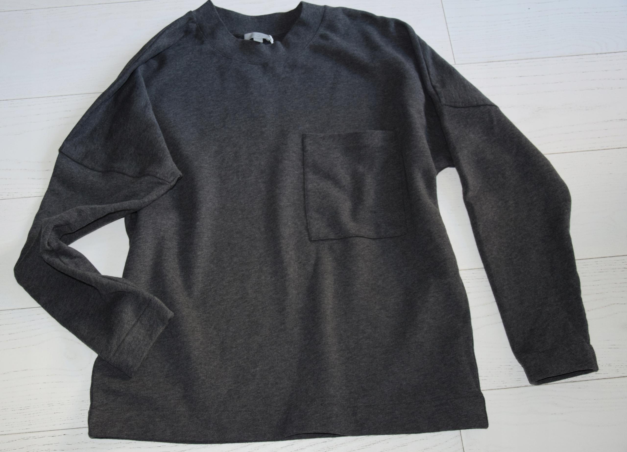 cos szara bluza oversize bawełna r. M