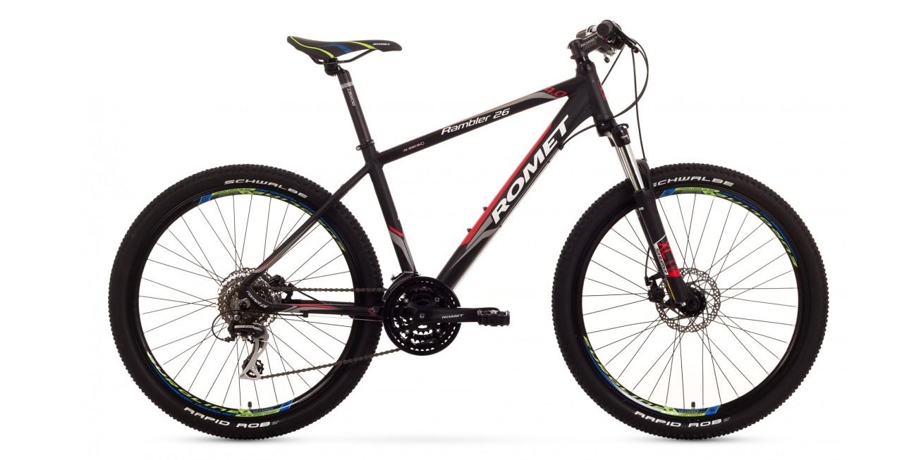 Rower RAMBLER 26 4 czarno-czerwony 19
