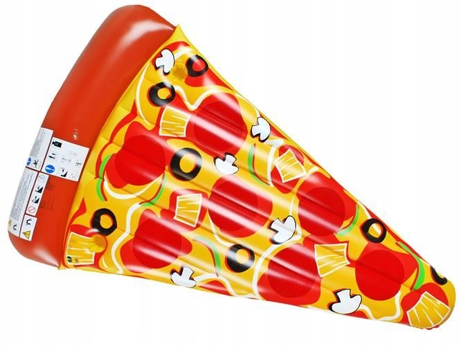Materac dmuchany pizza 165x110x17cm