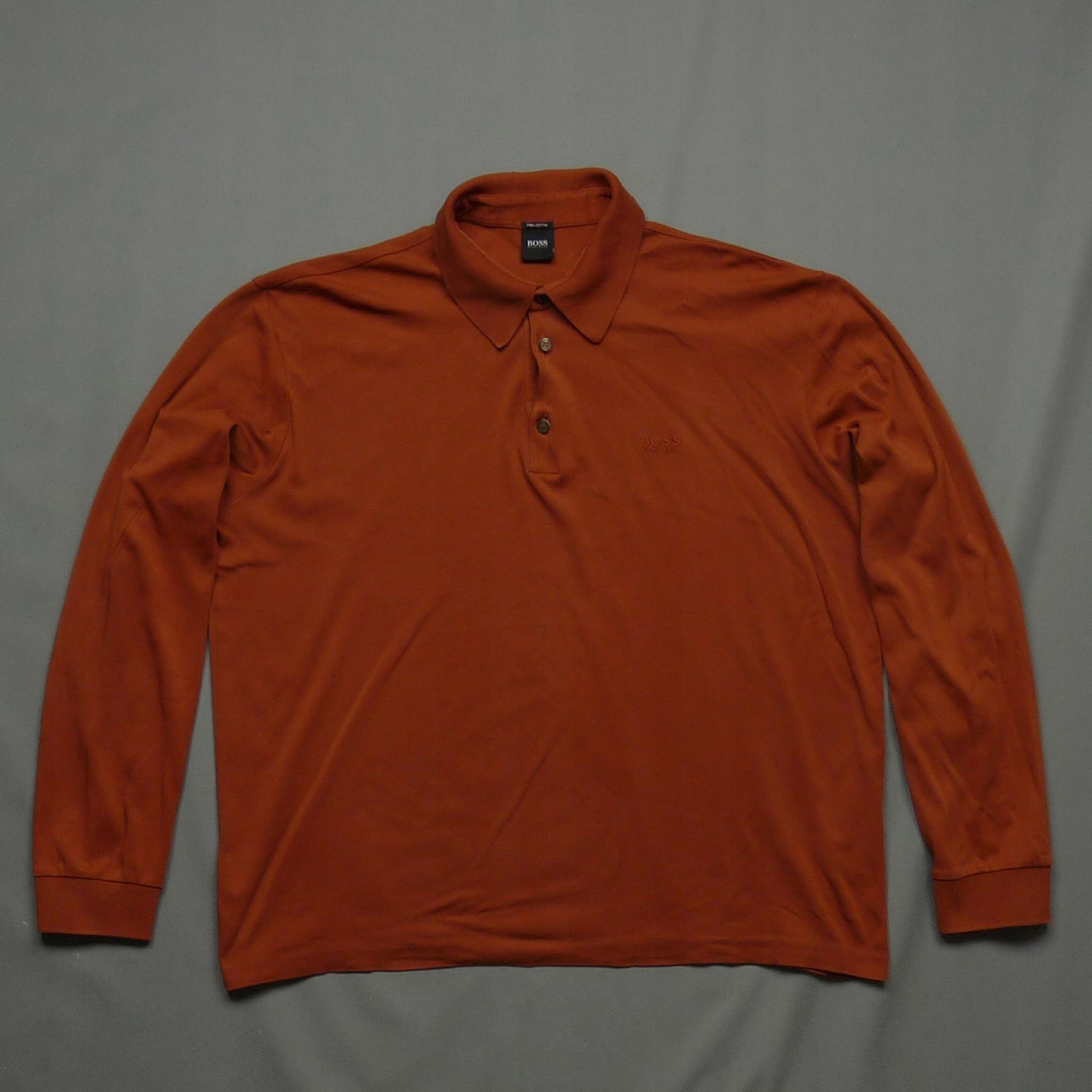 HUGO BOSS koszulka longsleeve Pima Cotton logo XL