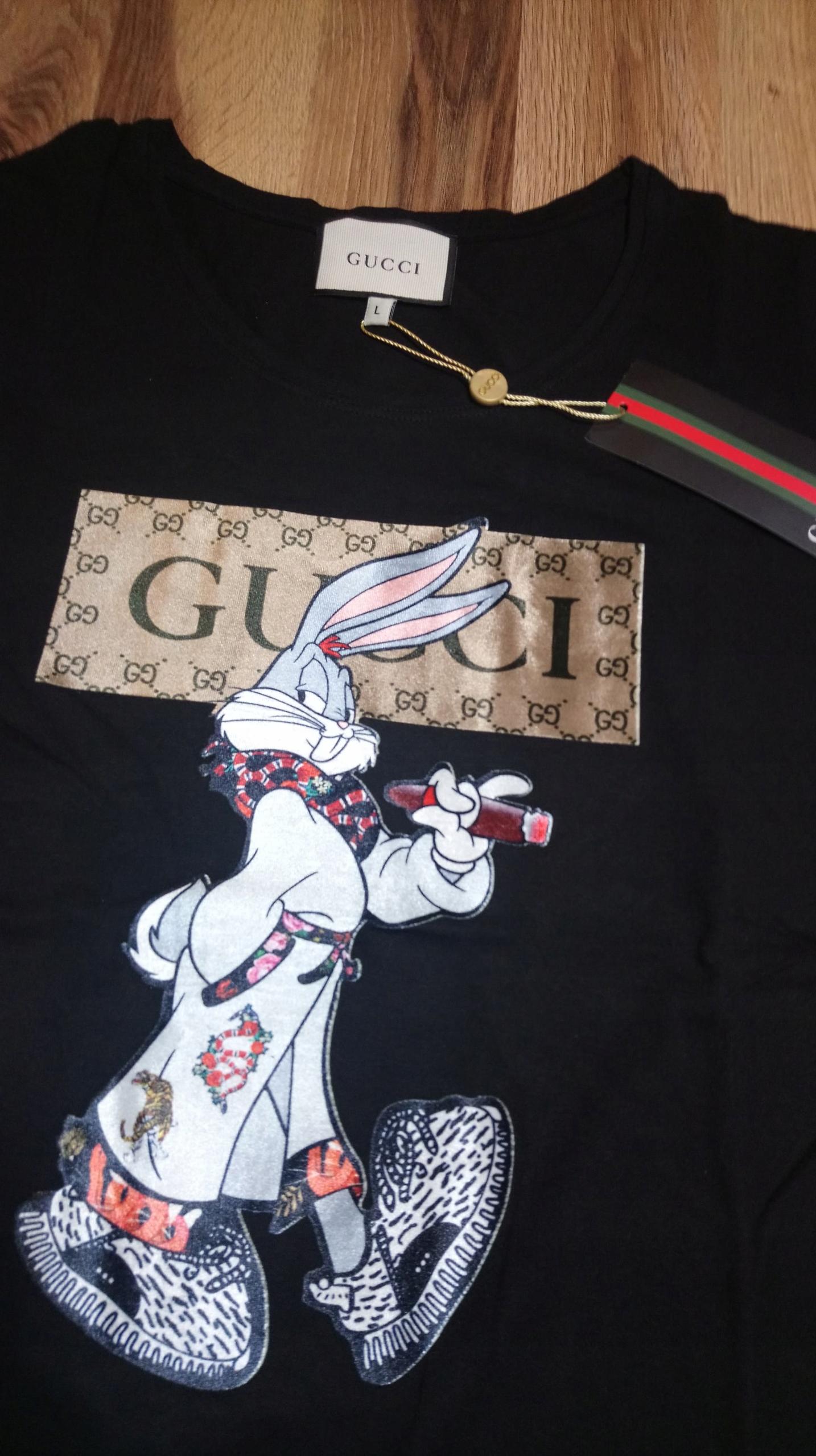 113462d253b41 T-Shirt GUCCI koszulka damska S KRÓLIK bugs - 7814978870 - oficjalne ...