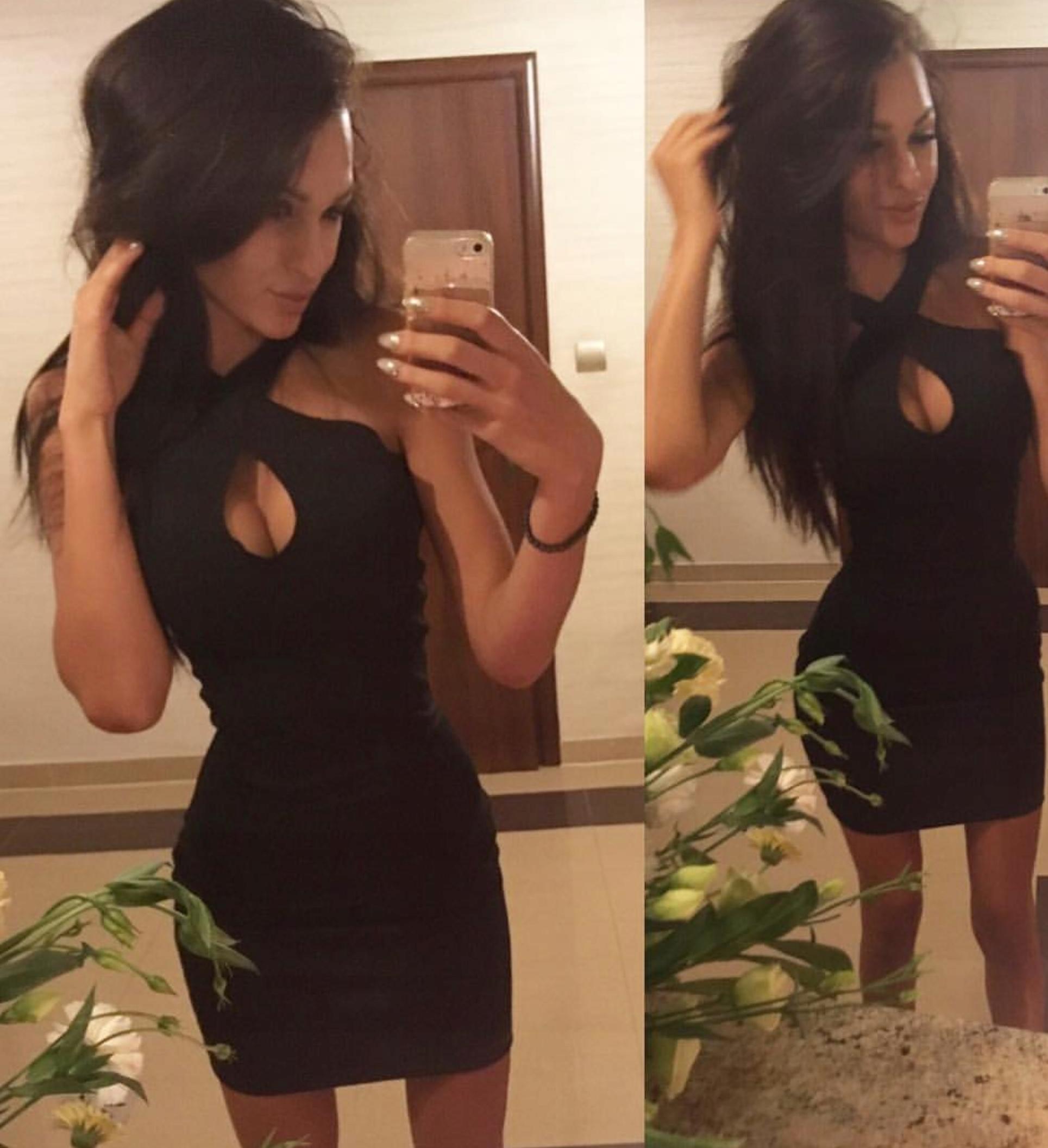 Sukienka czarna dekolt mini prezent 36 S łezka