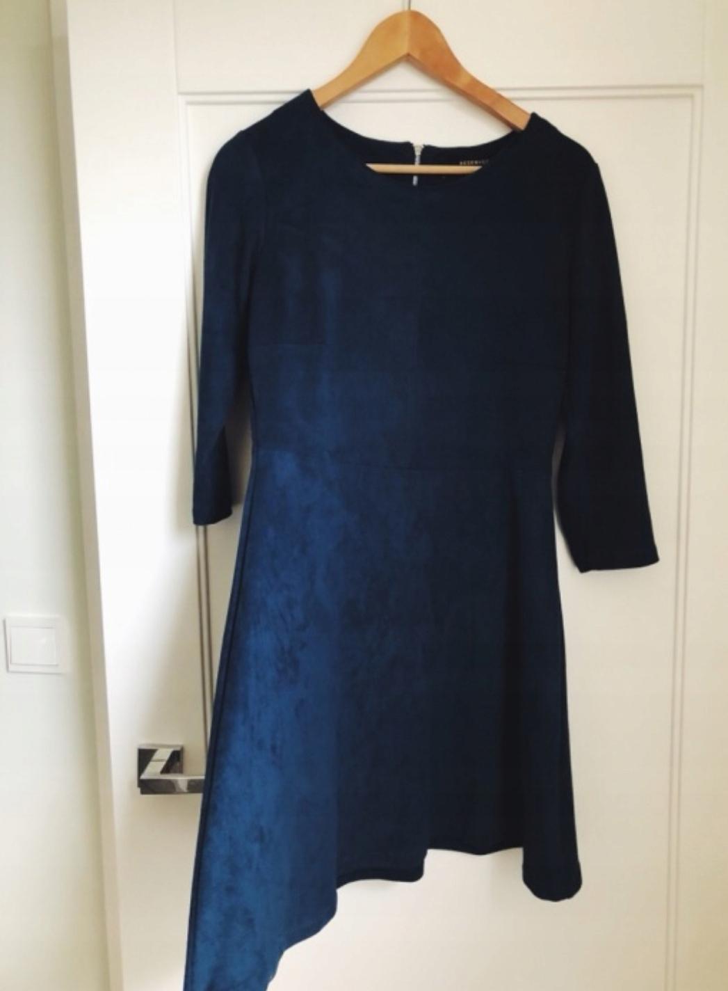 052ee6b5a0d7b Sukienka zamsz Reserved nowa S wyprzedaz - 7674213254 - oficjalne ...